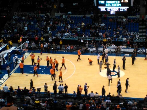 Knicks Pregame Practice